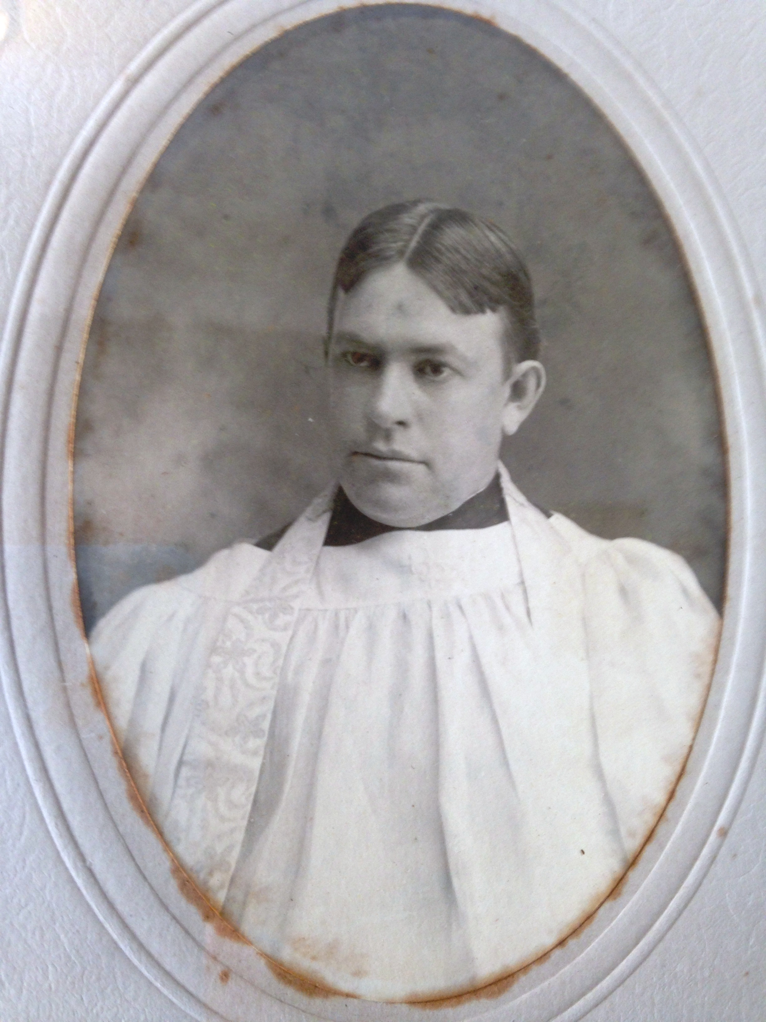 Rev. Willian Henry Robinson  circa 1905 from Ashfield MA more contrast